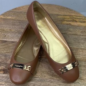 Coach Bianca brown name plate Flats Shoes 9